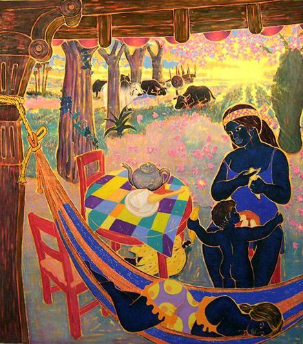 """""""Composición"""" . Óleo s. lienzo – Herminio Pedraza"""